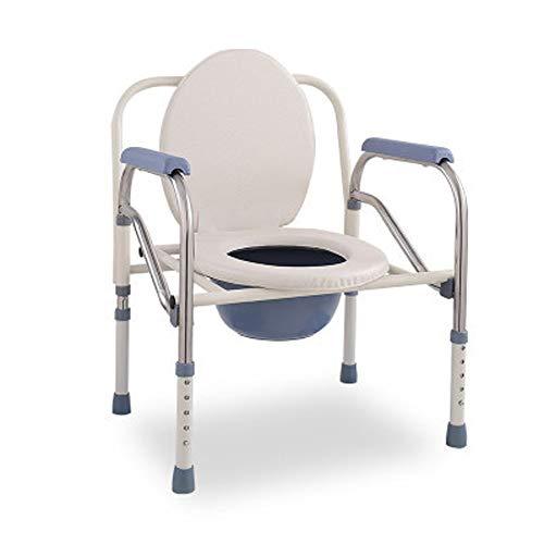 YYNChr toiletstoel ouderling toiletbril, douchestoel verstelbaar opklapbaar met armleuningen, roestvrij staal anti-slip toilet
