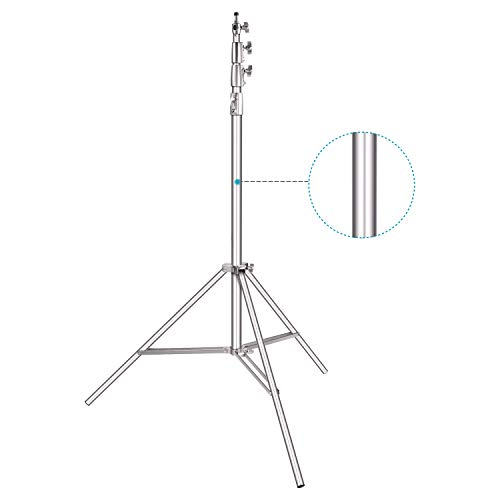 Neewer Heavy-Duty Light Stand 13 Feet/4 Meters Spring Cushioned Aluminum Alloy Pro Photography Tripod Stand Photo Studio Adjustable Light Stand for Photography Lighting Equipment (Silver)