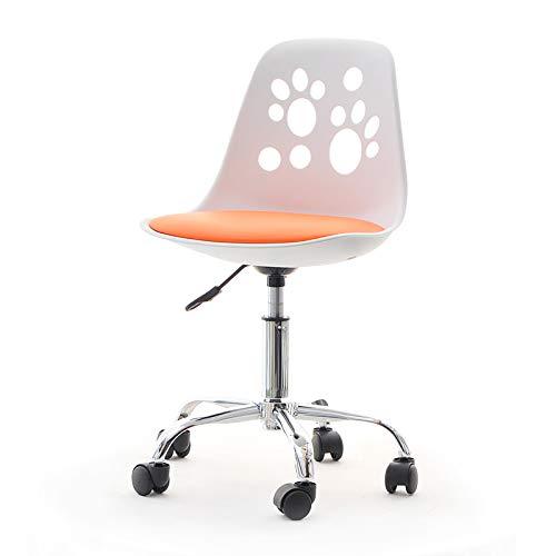 Foot – jeugd- en kinderstoel bureaustoel draaistoel 40 x40 x 84 cm wit/oranje