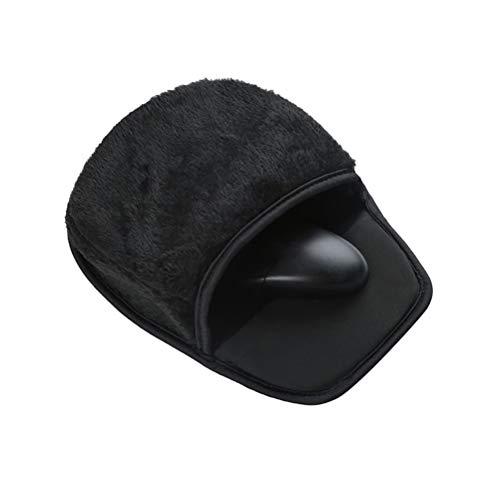 Sysow Alfombrilla de ratón calefactable por USB, 28,5 x 22 cm, calentador de manos con protección para la muñeca, para invierno y hogar