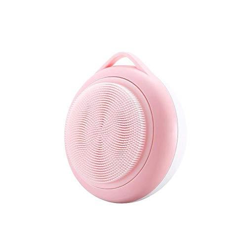 Brosse de Lavage électrique Rechargeable de Brosse Molle Rechargeable d'instrument de Nettoyage de Silicone Ronde et portative Liuyu. (Color : Pink)