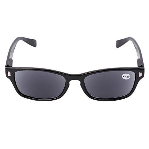 Fogun Lesebrillen, die überall haften, Sie überall begleiten, Sonnenbrillen Lesebrill Lightweight +1,0 +1,5 +2,0 +2,5, 3,0,+3,5 (Schwarz, 1.5)