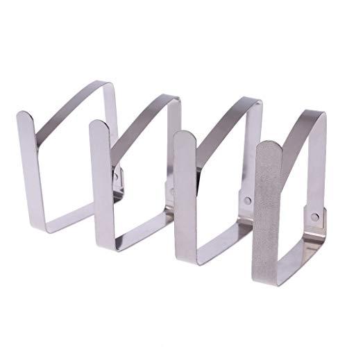 A0127 Clip de Nappe Clip Nappe en Acier Inoxydable Fixation par Clip Pique-Nique en Plein air Nappe Ensemble de 4 pièces Réglable Décoration de Cuisine