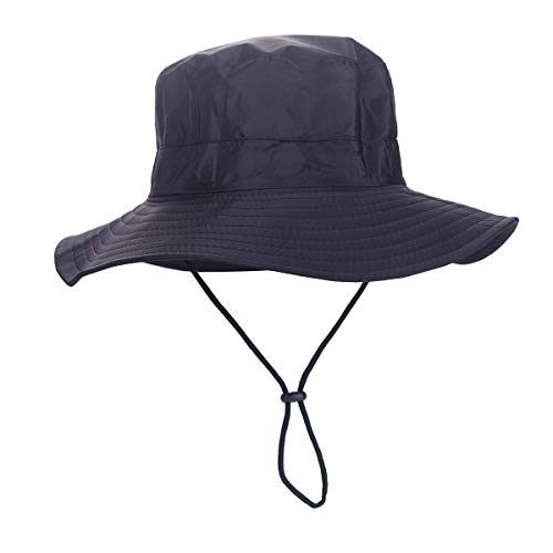 Outdoor Sun Hat, Waterproof Fishing Hat Sun Protection Summer Boonie for Man and Women Foldable Bucket Hat for Hiking (Black)
