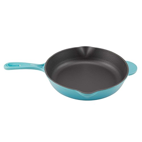 Zelancio Enameled 10-Inch Cast Iron Skillet, Oven Safe Smooth Surface Frying Pan. Perfect for Steak,...