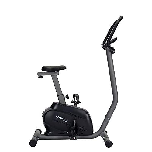 Bicicleta Estática Motorizada Keboo Serie 900 Magnética con Pulsómetro de Manillar, 16 Niveles, Asiento Ajustable y Pantalla LCD