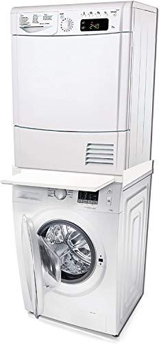 TronicXL Zwischenbaurahmen Waschmaschine Trockner Zwischenboden Stapel Rahmen Gestell mit Arbeitsfläche kompatibel mit Miele Bosch Siemens Bauknecht 481281718493 480181701002 Wpro 484000008436 SKS101