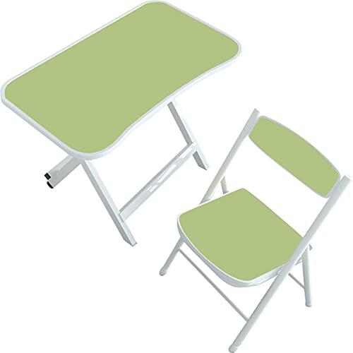 Kidoo - Mesa Infantil + Silla para niños - Mesa de Estudio o para Jugar los niños (Verde)