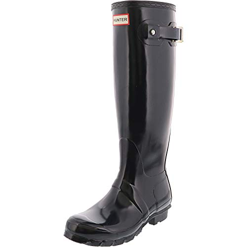 Hunter Women's Original Tall Gloss Navy Knee-High Rubber Rain Boot - 5M