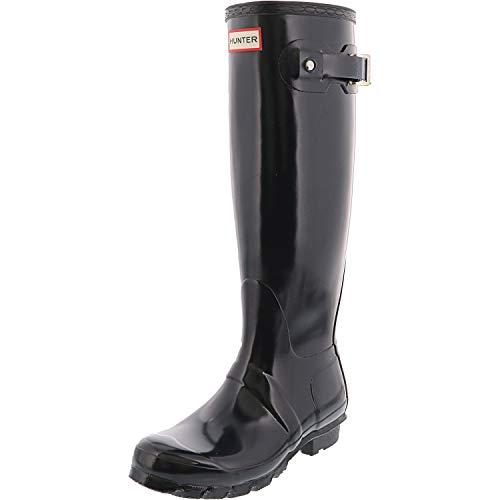 Hunter Women's Original Tall Gloss Navy Knee-High Rubber Rain Boot - 5M