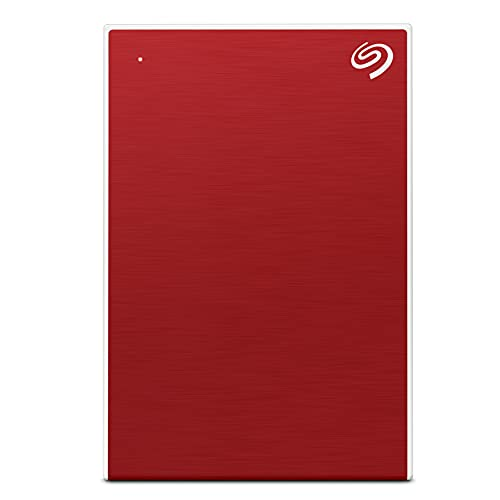 Seagate Backup Plus Portable 5 TB External Hard Drive HDD – Red USB 3.0 for PC Laptop and Mac, 1 Year Mylio Create, 4 Months...
