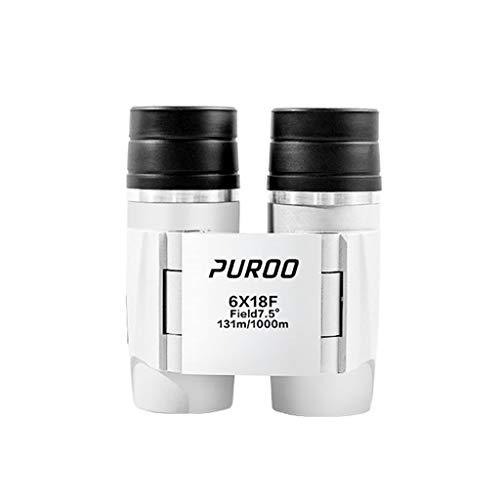 Autofocus-binoculares 6x18F, el Cuerpo de la Lente de Metal es pequeño y Exquisito, protección para los Ojos con Lente óptica Completa/Recubrimiento HD