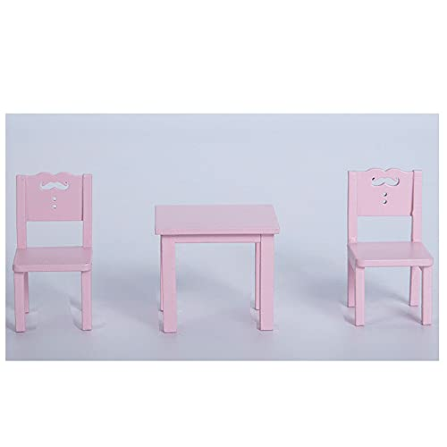 Jilibaba Casa de muñecas miniatura Muebles de juguete silla de mesa Kit...