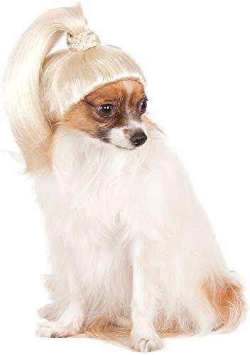 Pet Wig Blonde Ponytail, Small/Medium