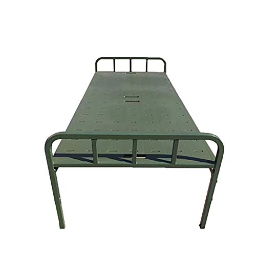 YUD Outdoor folding bed portable bed, military green training bed camping single bed, adult bed super wide folding bed