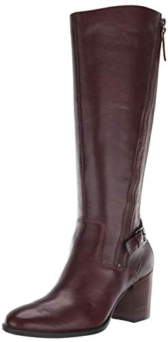ECCO Women's Shape 55 Stacked Heel Tall Knee High Boot, Mink, 36 M EU (5-5.5 US)
