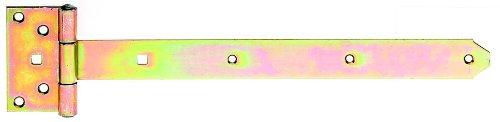 GAH-Alberts 310967 Kreuzgehänge, mit vernietetem Stift, galvanisch gelb verzinkt, Band: 391 x 40 mm, Scharnier: 103 x 59 mm