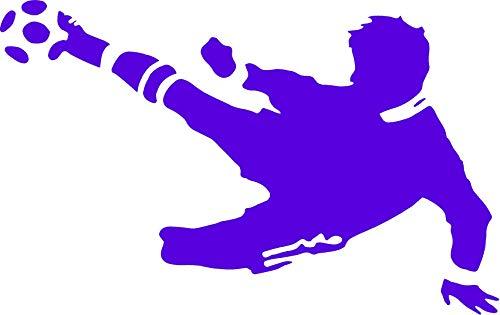 EmmiJules Wandtattoo Fußball-Spieler Fussballer - mit Namen möglich - Made in Germany - in verschiedenen Größen und Farben - Kinderzimmer Junge Fußball WM EM Sticker Aufkleber (110cm x 75cm, blau)