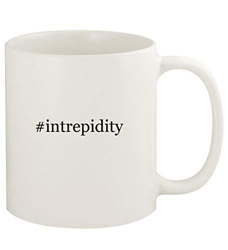 #intrepidity - 11oz Hashtag Ceramic White Coffee Mug Cup, White