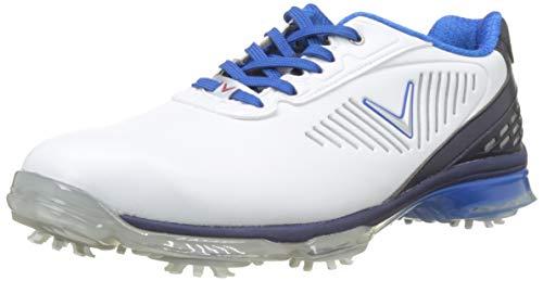 Callaway Xfer Nitro, Chaussures de Golf Homme, Blanc/Bleu, 42.5 EU