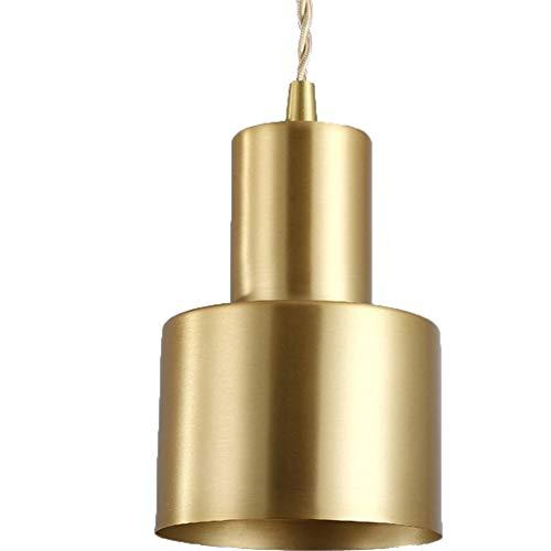 Decoratieve verlichting Drie Hoofden Simple Copper Single Head Restaurant kroonluchter met 5W drie kleuren licht LED Opknoping Lamp