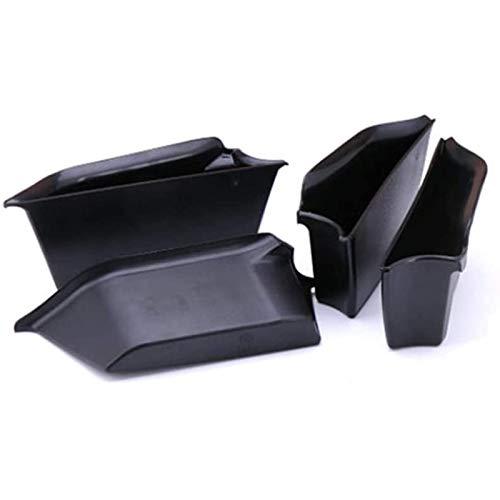 BOINN 4 Piezas Caja de Almacenamiento de Reposabrazos de Manija de Puerta Lateral de Coche Apta para F55 Organizador de Contenedor de TeléFono de Puerta Bandeja de ABS