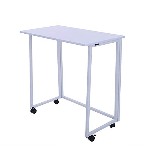 Home&Selected Opvouwbare computertafel, bureau, eenvoudige pc, bureau, industriële stijl, laptop, kantoor, kleur: BL Wit