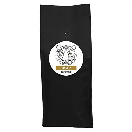Premium Kaffeebohnen Espresso TIGER von 5undzwanzig | kräftig, würzig, süß | 13 % Arabica, 87 % Robusta | 500g
