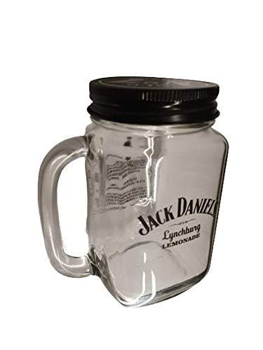 Brown Forman Jacky Original Lynchburg Lemonade Krug mit Henkel und Deckel Bar Gastro Geschenk