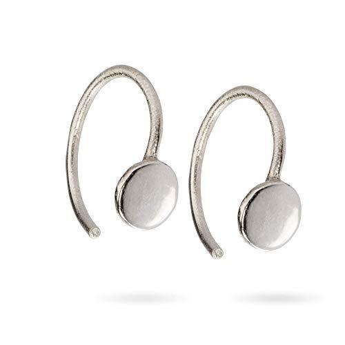Huggie Hoop Ohrring winziger Kreis offen umarmt Creolen Threader Ohrringe aus Sterling Silber Mini Hug Ohrringe