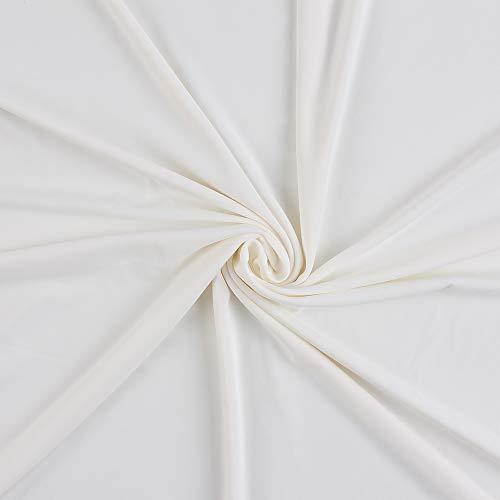 生地 接触冷感 布 冷感 吸水速乾 UVカット 手芸 手作りキット 夏用 熱中症対策 (ホワイト, 1m)