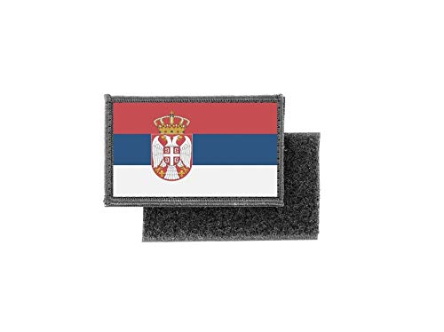 Aufnäher patch aufbügler gedruckt flagge fahne serbien