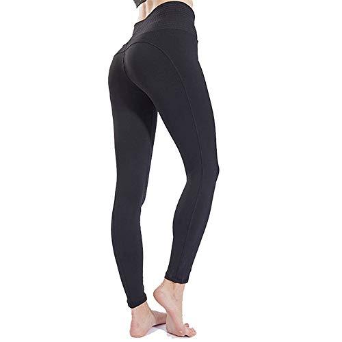 Leggings Donna Fitness Palestra Pantaloni da Yoga, Leggings da allenamento magro traspirante da donna Leggings alla moda Trendy Elastico in vita Elastico Capri Pantaloni da controllo della pancia Pant
