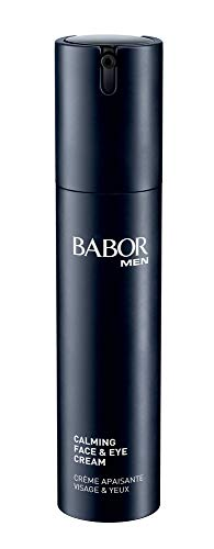 Babor Men Calming Face & Eye Cream, Beruhigende Creme Für Gesicht Und Augen, Mit Hanföl, Gegen Augenringe, Bekämpft Irritationen U. Rötungen, 1x50 ml