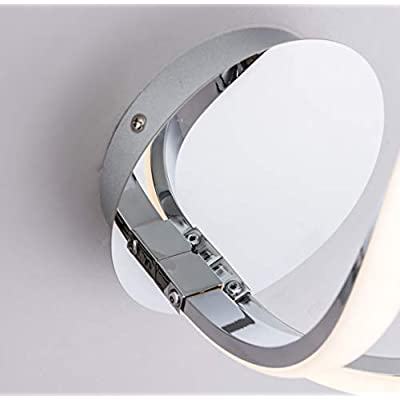 Hallway Ideal for Bedroom B/&B Polished Chrome Finish HARPER LIVING Halo 1 LED Wall Light and Sconce with Toggle Switch Warm White Hotel 3000K Living Room 12W 680LM