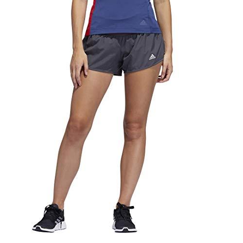 adidas Run It Short Pb 3 rayas para mujer - IDE46, Run It Short Personal Best 3 rayas, X-Large 4', Gris