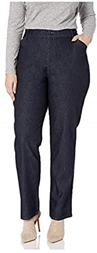 LEE Women's Relaxed Fit All Day Straight Leg Pant (Indigo Rinse, 20)