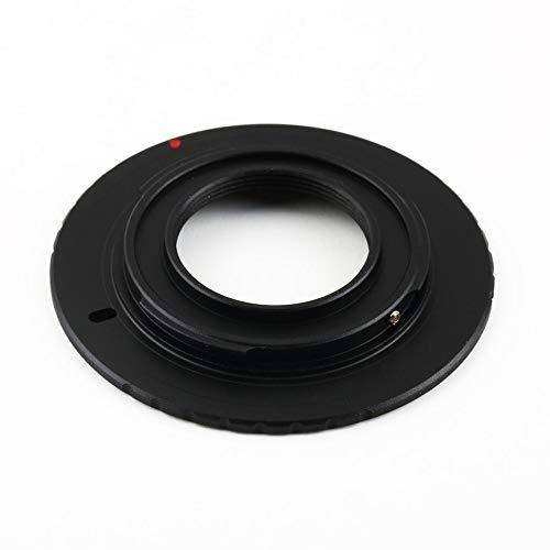 Peanutaoc Zwart Geanodiseerd Aluminium Metalen Adapter Camera Converteren Ring voor Olympus PM1 C Mount Lens naar Micro 4/3 M4/3 voor Panasonic GX1 GF5