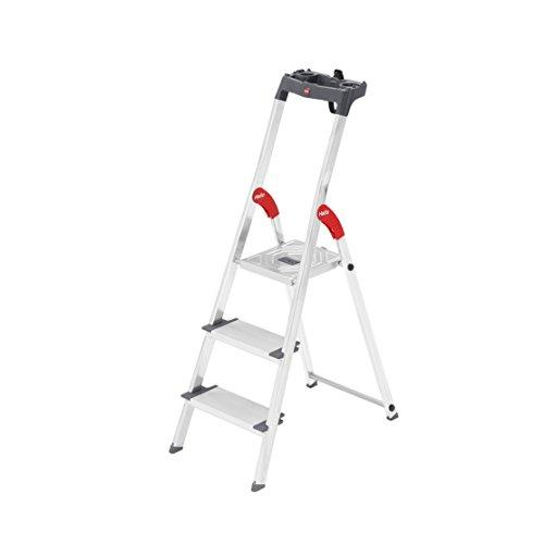 Preisvergleich Produktbild Hailo ProfiLine S150 XXL Alu-Stufenstehleiter (3 XXL-Stufen,  Plattform-Verriegelung,  belastbar bis 150 kg,  Ablageschale) 8813-027