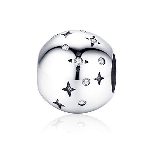 Bijoux Blu sterrenhemel zilver 925 ronde metalen kralen voor vrouwen sieraden maken sterrenhemel bedeltje voor originele armband fijn DIY sieraden