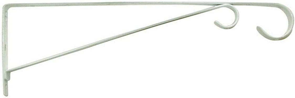 Steel White Wall Mount Basic Plant Bracket 15 Large-scale sale Shipping included 0.6 x in 4 W H D