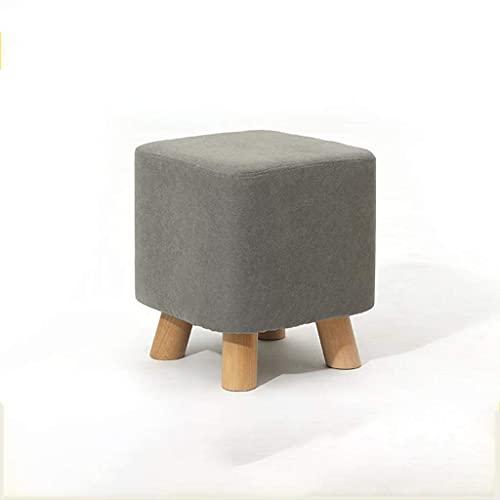 WEIZI Cómodo Taburete otomano súper Suave para sofá Patas de Madera Taburete para pies Taburete Cuadrado con escalones decoración de Muebles Modernos (Color: Natural)