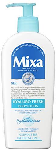 Mixa Hyaluro Fresh Bodylotion für normale bis trockene Haut, mit Hyaluronsäure, ohne Parabene und Farbstoffe, 2er Pack (2 x 250 ml)