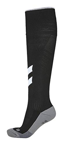 Hummel Fundamental fútbol Forma Medias Colour Negro-Blanco