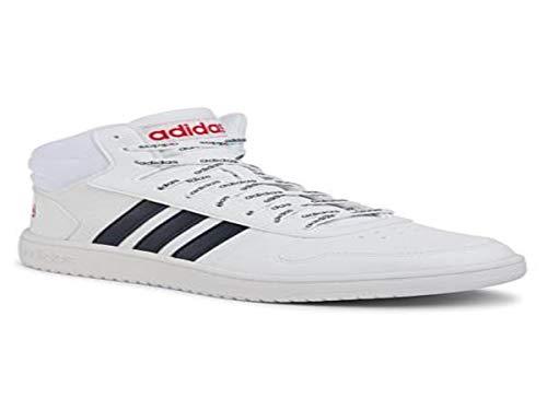 adidas Hoops 2.0 Mid, Zapatillas de básquetbol para Hombre, FTWR White Legend Ink Scarlet, 44 EU