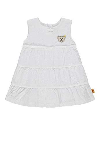 Steiff Mädchen Arm Kleid, Weiß (Bright White 1000), 92