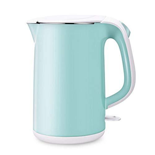 LIANG Electric Kettle,Double Wall 100% Stainless Steel BPA-Free Cool Touch Tea Kettle With 1800W Fast Boiling Heater, Cordless With Auto Shut-Off & Boil Dry Protection,1.7L, Blue,Red, ( Color : Blue )