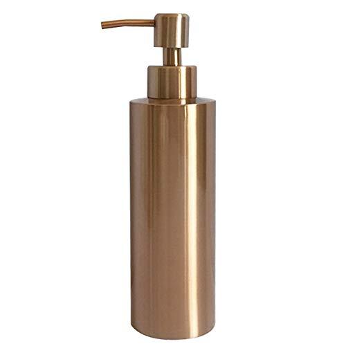 SISVIV Dispenser di Sapone Liquido 350ML Acciaio Inox 304 Portasapone Dosatori per Sapone Disinfettante Mani Shampoo Detersivo Piatti Bagno Cucina Oro Rosa