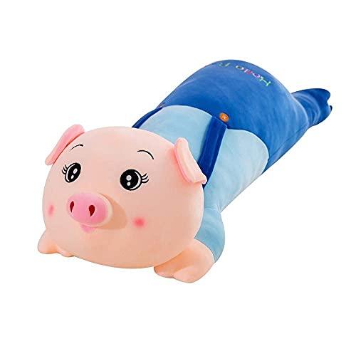 Demin Peluches de Peluche, Soft Long Pig Peluche Abrazo Almohada, Lindo Piggy Relleno Artificlal Artificlal Artificlal Artificlal Muñecas Doll Doll Gifts para la Ropa de Cama, cumpleaños de los n