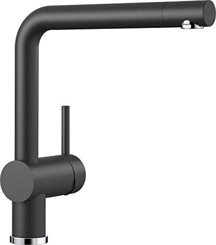 BLANCO LINUS - Moderne Küchenarmatur mit hohem Auslauf - Hochdruck - Anthrazit-Grau - 516698